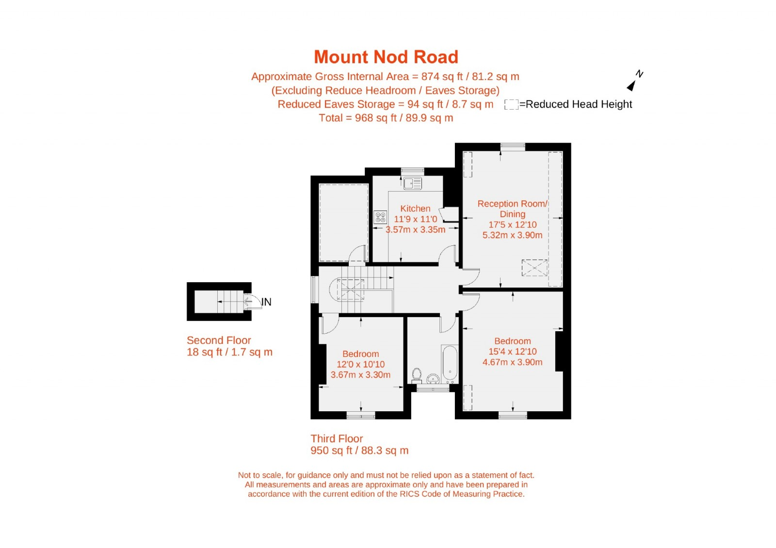 Floorplan for Mount Nod Road, Streatham, London