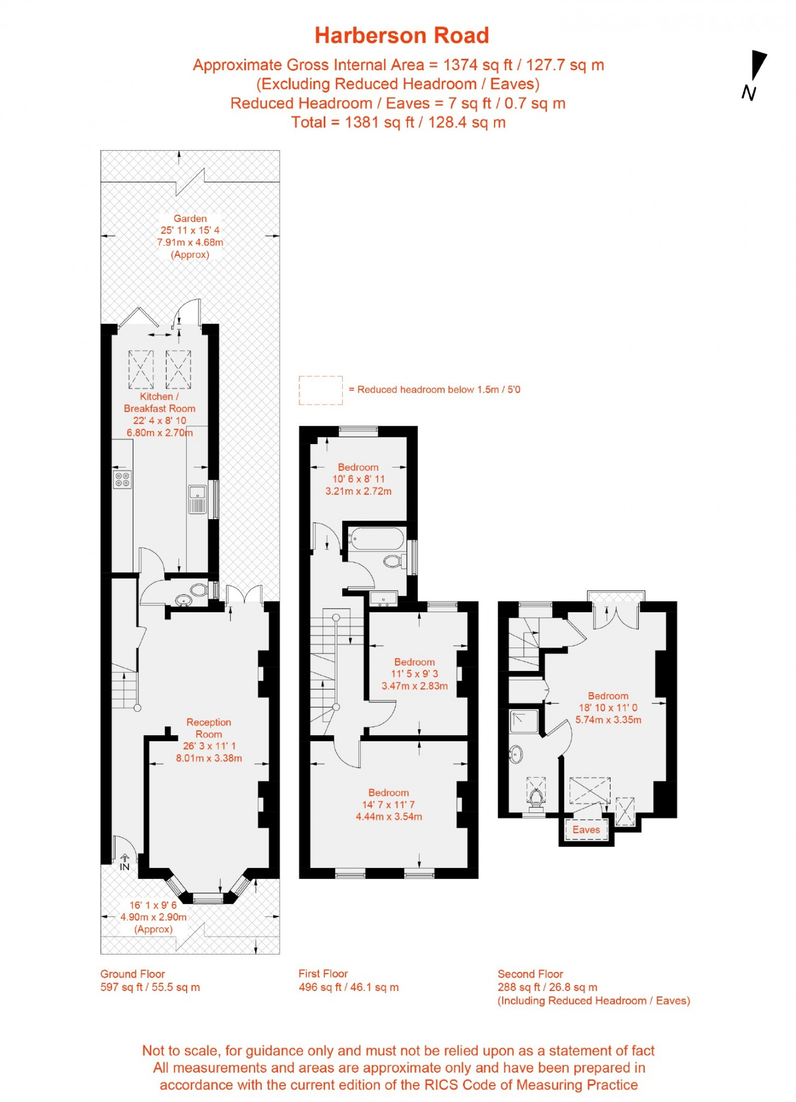 Floorplan for Harberson Road, Balham