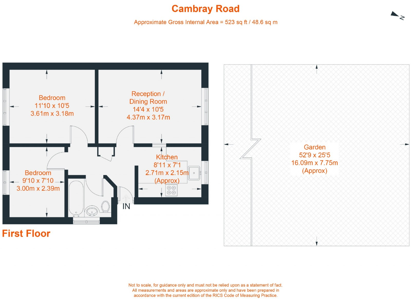 Floorplan for Cambray Road, Balham