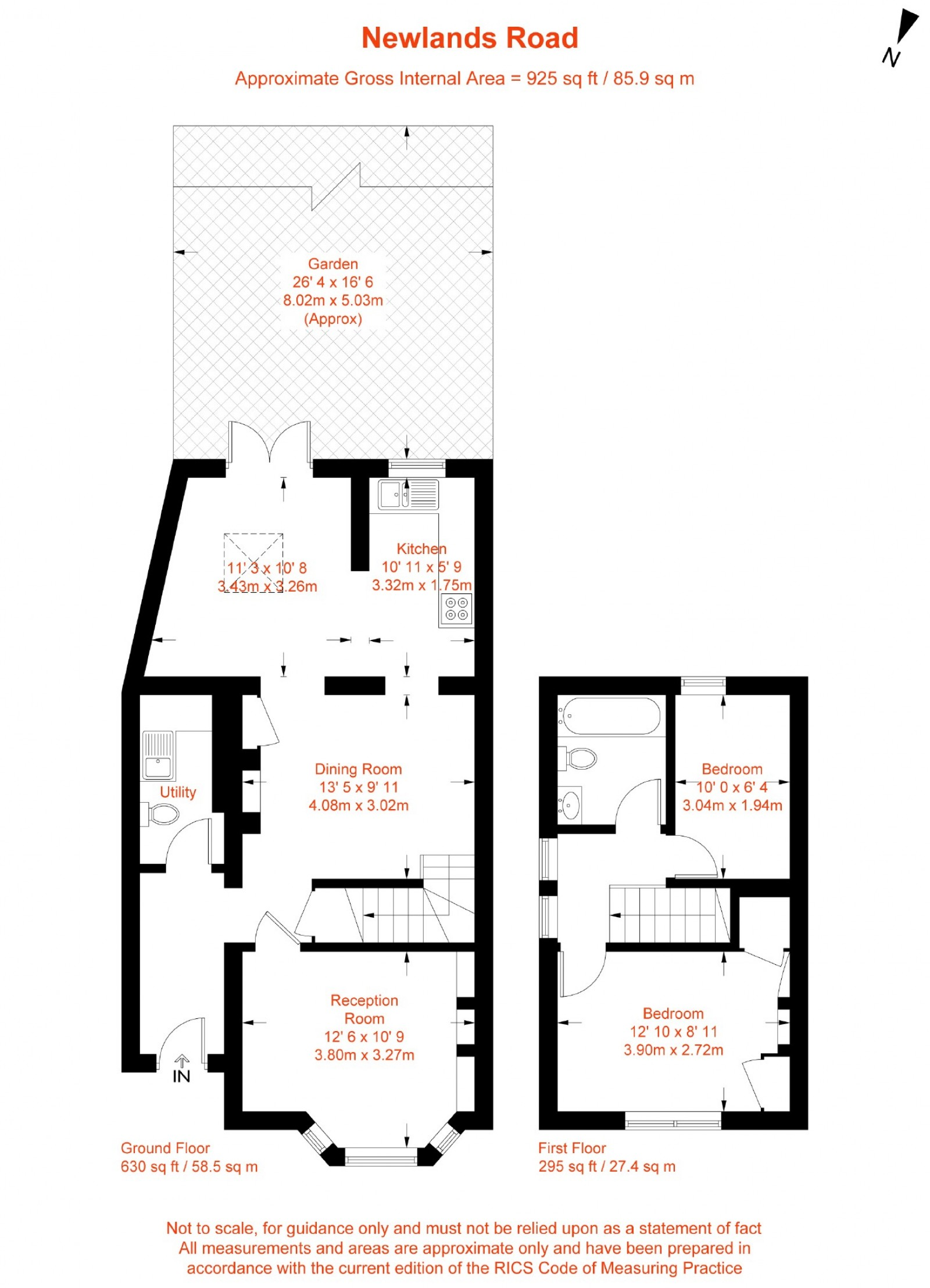 Floorplan for Newlands Road, Norbury