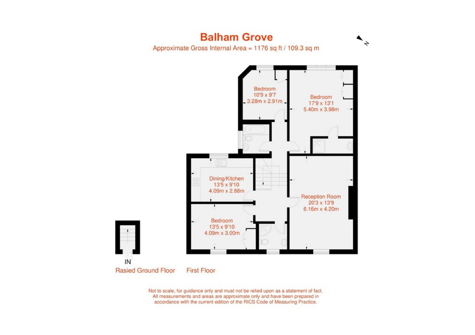 Floorplan for Balham Grove, Balham