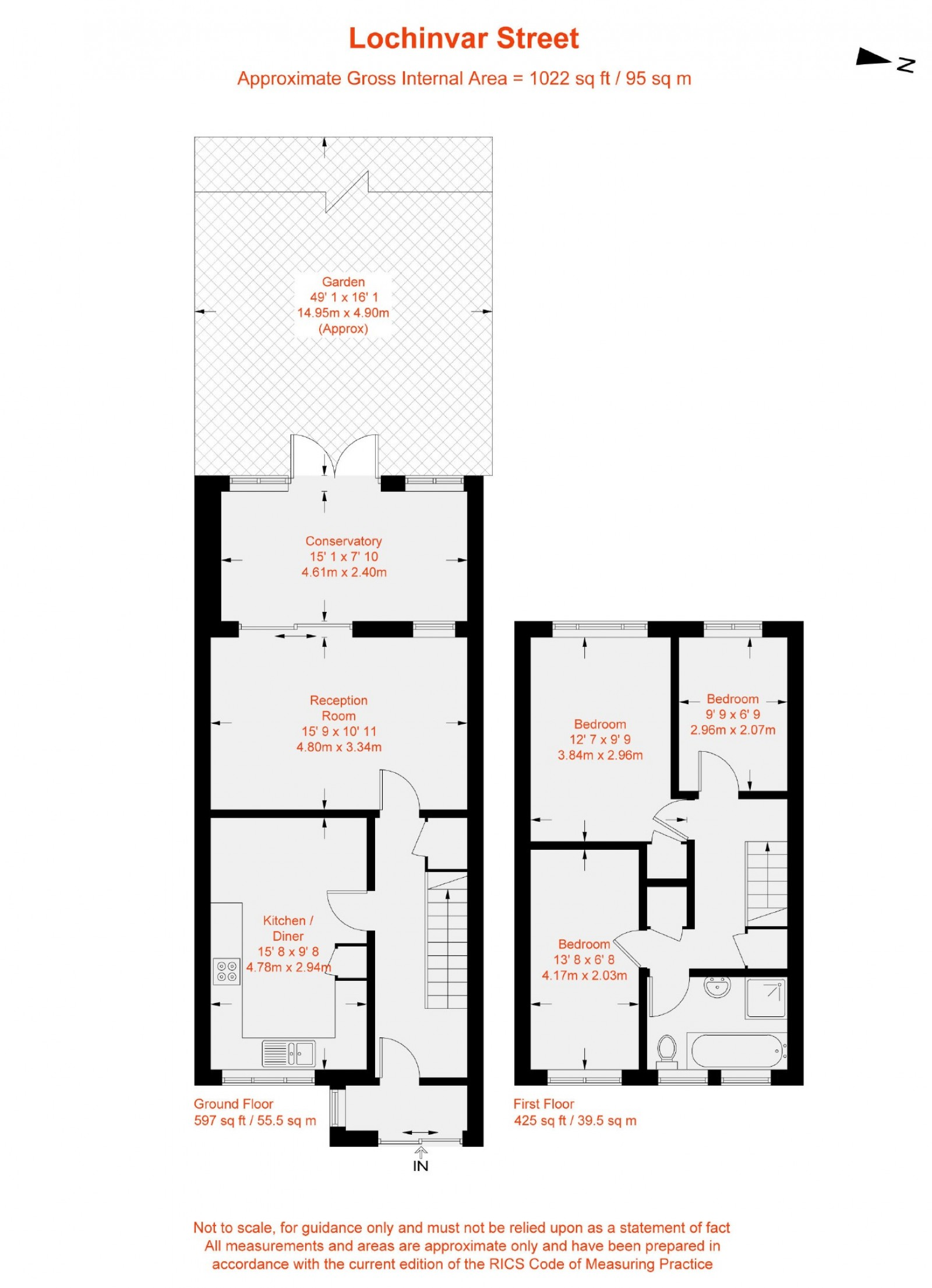Floorplan for Lochinvar Street, Balham